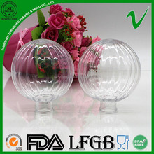 transparent recyclable plastic container sphere decoration for e-liquid packaging