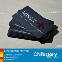 Solid Matt black business cards name card silver foil print thick card
