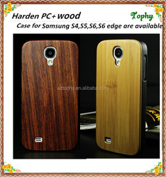 STOCK bambo wood mobile phone cover for iphone, for samsung mobile case wood