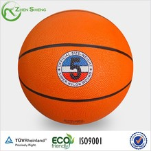 Zhensheng customized rubber basketball promotional 5