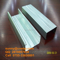Galvanized light steel wall partition stud and track