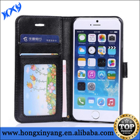 Quality wallet cover for iPhone 6 sheep leather material many colors for choice