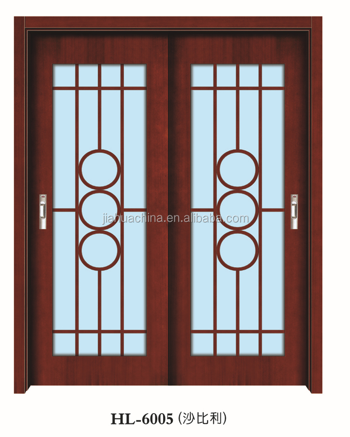 exterior luxury double solid wooden door sliding closet fancy door