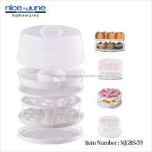 Multiunction 2 layer collapsible cake carrier