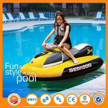 0.55 mm PVC 150 * 100 cm niños eléctrica lancha inflable con la batería / motor del agua / juguetes inflables eléctricas