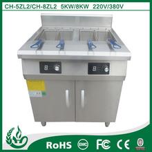 Freestanding induction potato chips deep fryer machine for restaurant