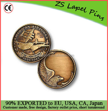 Custom top quality novelty gift P-38 Engravable Bronze Antique Challenge Coin