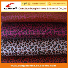 Over 20 years experience factory supply leopard pu glitter leather for shoes