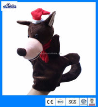 2014best selling party decoration horse hand puppet