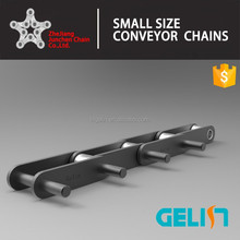Double pitch conveyor chain with extended pin