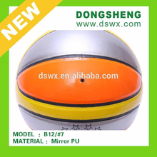 Professional new design colorful Rubber Basketball Size 7 for Outdoor
