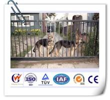 Steel outdoor backyard dog fence