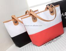 Custom Women's Shoulder Bag Contrast Color Hand Bag Totes Out Travelling Bag