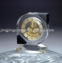 Promotional k9 crystal desk table clock