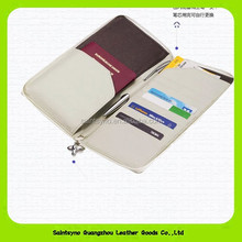 Leather passport with credit card holder leather rfid travel organizer wallet for men 14027
