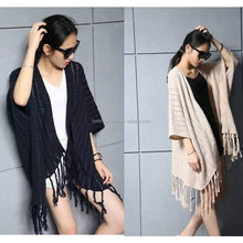 2016 New High Quality Fashion Women Ladies Knitted Poncho for Wholesale Retail