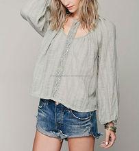 CHEFON Flowy women cotton linen tunic tops