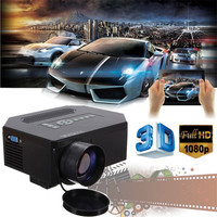 Best Price Newest Home Theater 1200Lumens HDMI USB 3D Red Blue LCD Mini 1080P LED Wifi Wireless Video Portable Projector FULL HD