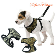 Leopard Pet Control Harness for Dog & Cat Soft Mesh Walk Collar Safety Strap Vest IPET-PH07