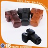 Wholesale cheap waterproof and shockproof leather digital camera case with camera hole