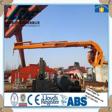 Super Performance Crane knuckle and telescopic boom marine crane