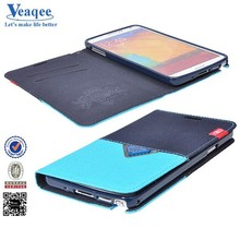 Veaqee 2015 hot sale flip leather cases for samsung s5 i9600