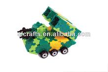 Funny plastic missile car building block for kids