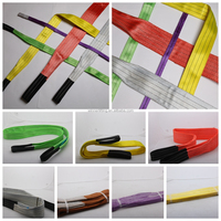 Super Quality Polyester Webbing Sling Gold Supplier Flat Polyester Slings;Helicopter Sling