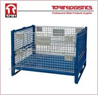 Heavy duty powder coating steel wire basket with metal floor for circulation (L1175*W995 mm/OEM)