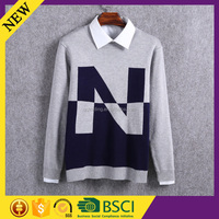 Cashmere woolen machine pictures model latest designs men sweater