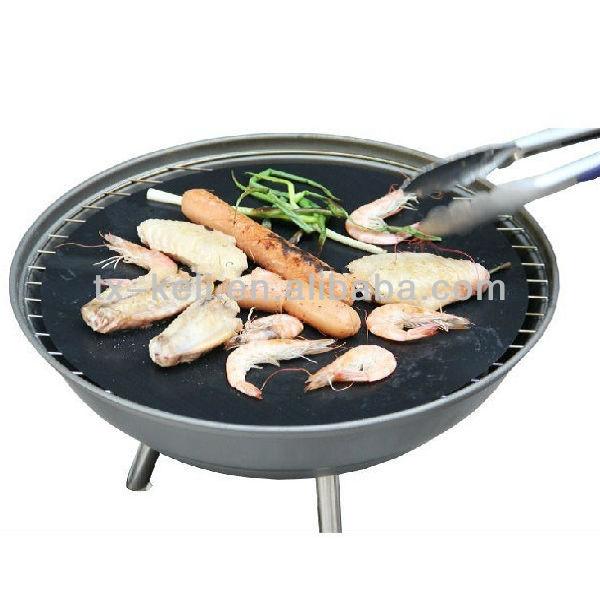 No- palo de ronda de la hoja de la parrilla/- revestimiento de teflón rígido de cocina esteras