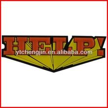 """Superman HELP 'kids alphabet fridge magnets"