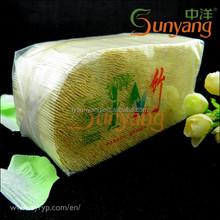 Custom-Made Factory Bamboo Toothpicks Bag Packing