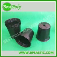 Cheap plastic flower pot black propagation pots