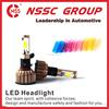 NSSC 12-32V car headlight bulbs 24w 2400lm headlight glass lens 9004 headlight replaces halogen and HID bulbs
