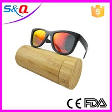 hot new products for 2015 black frame bamboo polarized sunglasses