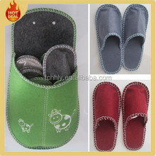 2015 New cheap disposable hotel felt slipper
