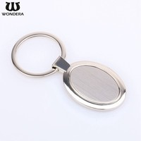 Promotional Gift Design Metal Oval Shape Blank Customized Keychains