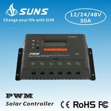 12V 24V 48V PWM 30A solar controller for Inverter system SUNS energy