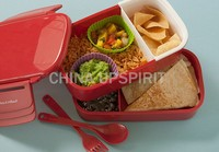 2015 new design multi-functional double deck microwave lunch box tiffin carrier