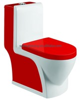 Washdown one piece colored toilet 323 red