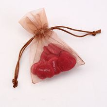 Beautiful organza gift bag with drawstring for wedding organza bag