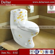 Flower Plated Washdown Toilet with P/S trap,All kinds of toilet with picture,2015special design new toilet bowl