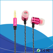 factory Piston In-Ear Earphones Wire Control + MIC for Mobile Phones(RED)