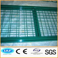 PVC coated fence wire mesh gate
