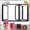 austrália as2047 padrão soundproof vidro duplo interior folding varanda porta de alumínio