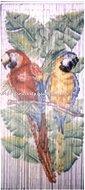 Bamboo Curtain, beaded door curtain painted by hand, bird style