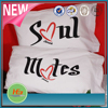 100% cotton high quality custom size custom printed couple pillow cover