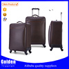 Luxurious PU leather travel luggage high quality fancy luggage bags for business