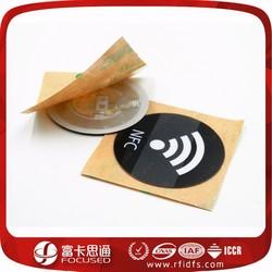printed passive tamper proof nfc tag pvc 3m adhesive